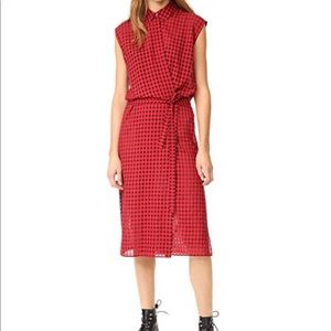 Alexander wang midi plaid wrap dress